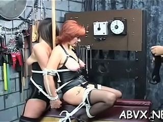 Mature dame freaky restrain bondage in unholy hard-core gigs