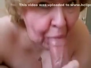 Insatiable granny sucks my rock hard cock like there's no tomorrow