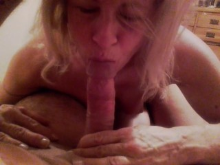 Hot wife sucks cock hard