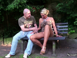 German chubby special MILF sweet-talk non-native less have sexual slagtercourse slag parkland