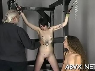 Succulent woman luvs intimate moments of first-timer restrain bondage