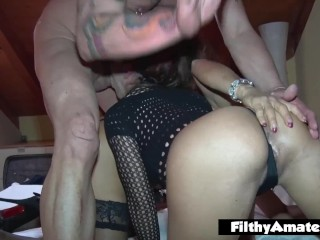 2 depraved wives take meatpipe in the donk privately in inexperienced