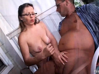Grown up Milf Offers being Handjob almost their way guy