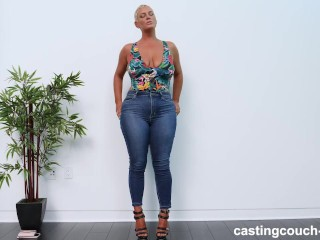 Sara audition with big black cock