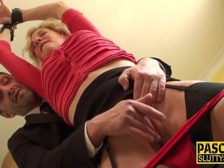 Grannie first-ever restrain bondage fuck-fest