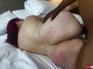 Mr Stixx Gets deep in mature phat ass white girl culo on BBWHighway.com
