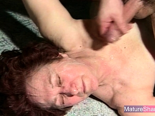Redhead Granny Fucked increased by Facialized