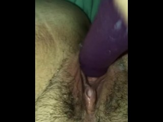 Faux-cock used to fuck sugary-sweet vag