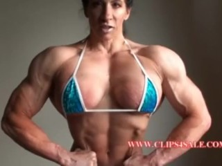 Angela salvagno pumping up her chest