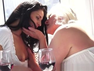 European granny asshole licked By youthful sweetie