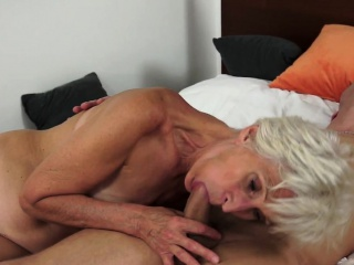 Saggy grandma slammed and jizzed in mouth