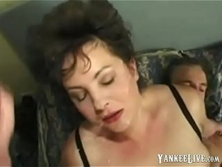 Chubby British MILF gets facial not later than anal!