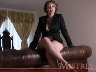 Domme T tights taunt
