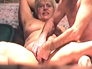 Inexperienced blond grandmother romped by 2 studs