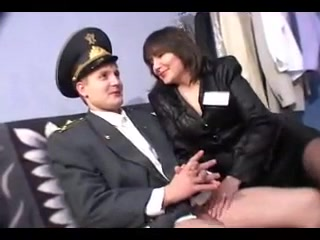 Youthful Russian Cop And aged mega-slut