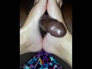 Amuture sole Job On Curved big black cock....I don't own copyrights to music