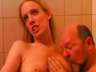 Sex in the bathroom- cut 1(#old man, #grandpa,#dad)