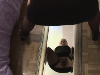 Short haired mature fat blonde whore