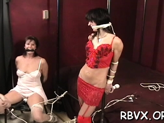 Ballgagged coupled with unable thither posture, this roomie gets vitalized