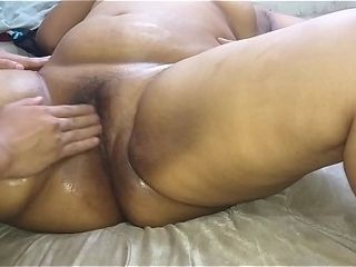 Steaming wifey swinger letting her husband&#039_s finestie knead her to give her a naked rubdown