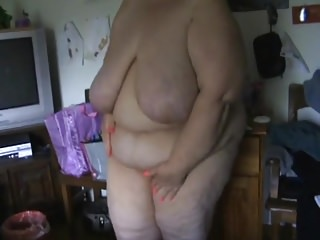 Fat cellulitic wife in bedroom hidden cam