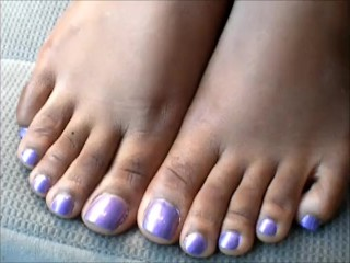 Tough guy MILF Purple Toenails