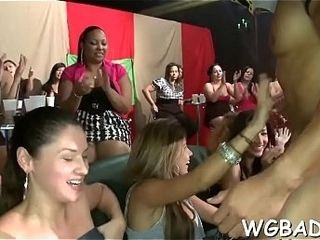 Cute stripper gets empress ramrod joyous off out of one's mind two chicks