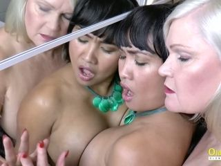 OldNannY Lacey Starr and Polynesian girl-girl