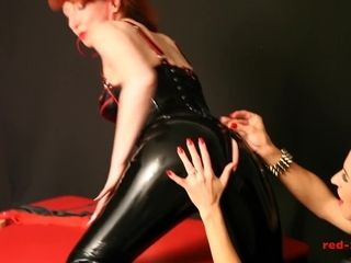 Matured redhead fucked off out of one's mind the brush big-busted girlfriends sew more than