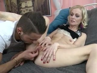 Milky haired slim mother gets a superb screw from a youthful stud with gigantic beef whistle