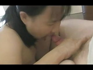 Bare-breasted chinese wifey guzzle