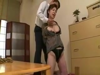 Asian granny enjoy To Be trussed