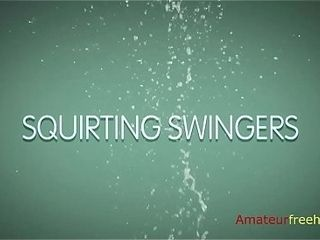 Splattering Swingers (go to the attach to see the total video)