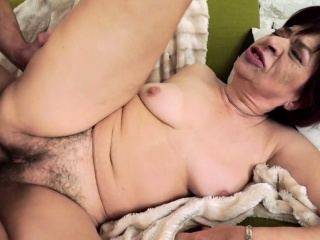 Licked older red-haired penetrate