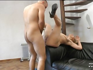 French cougar ass gaped and pounded by a young cock