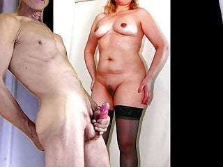Cheating jizm for your wifey in dark-hued stocking