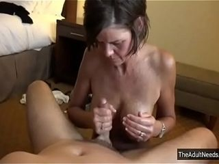 Mommy shoots a load son-in-law with greatest fellatio Ever