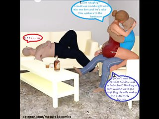 3D Comic: Cuckold wed Fucks Husbands win out over join up