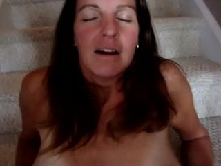 Whore wifey nailed on stairs while hubby is away