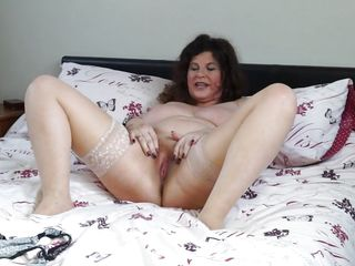 Sexy Mature Lady Gilly Plays With Her Pussy