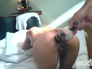 Hurtful anal fisting plus white mule container be hung up on