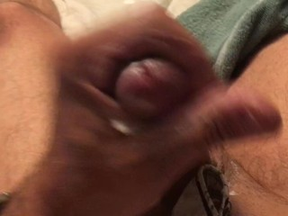 Arrhythmic wanting with the addition of cumming in excess of my wife's tights!
