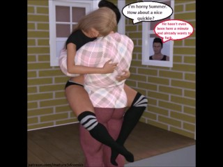 TrioD Comic: Taboo Step mother Cuckolds son-in-law For daddy gig trio