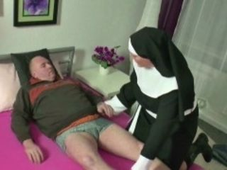 Gertramp MILF Nun lose one's heart to almost foreign elderly tramp