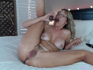 Jaw-dropping Mature Jess Ryan In personal CamShow assfuck double penetration ass to mouth and climaxes