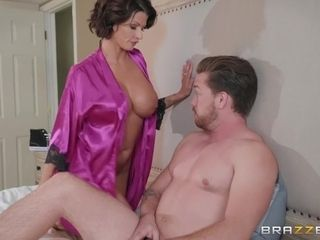 Housewife Joslyn pounded by husband's greatestie in the morning