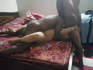 Indian wifey getting poked by 2 big black cock and hubby recording