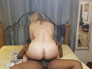 Tow-haired hotwife riding say no to BBC