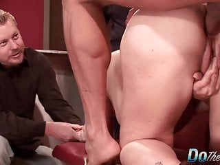 Tow-headed tie the knot arse Fucked as A Cuck Watches