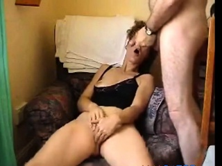 Sweltering housewife forbidden after a long time masturbating